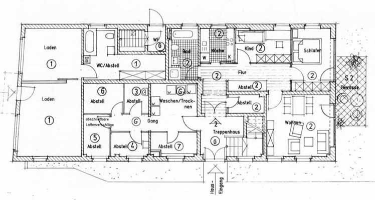 Treppenhaus grundriss mehrfamilienhaus  www.werk-stadt.de - Grundriss-Mehrfamilienhaus